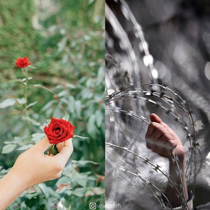 Я хочу показать вам контраст между 2 мирами, в которых мы живем...