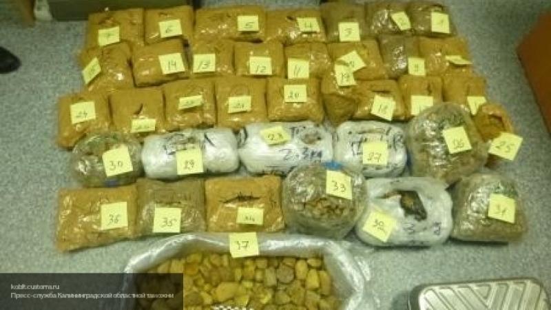 В поезде Калининград-Москва таможенники нашли контрабандные янтарь и сигареты