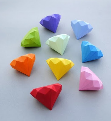 Драгоценные камни из бумаги шаблоны