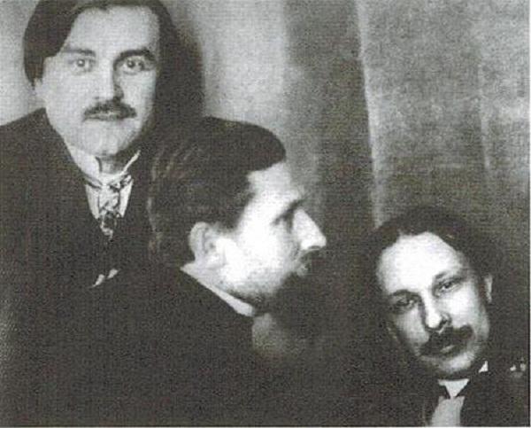 Февралисты («лошкари») Казимир Малевич, Иван Клюн, Алексей Моргунов. (1914)