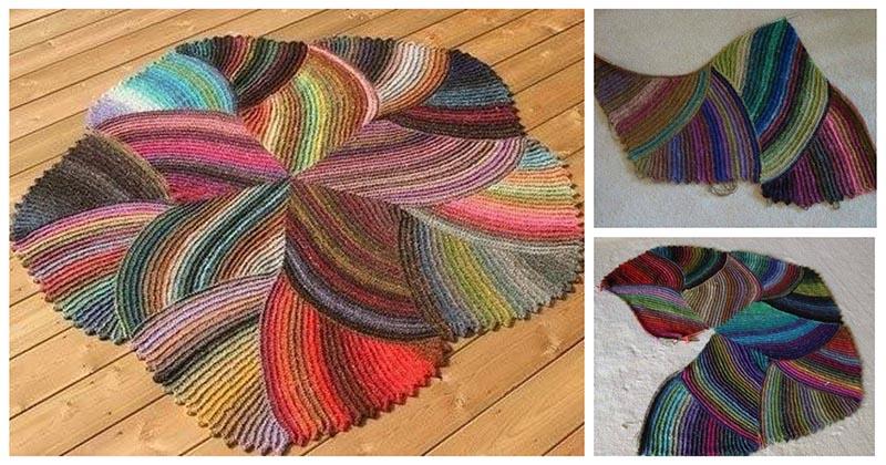 Уютный и красивый коврик интересной формы