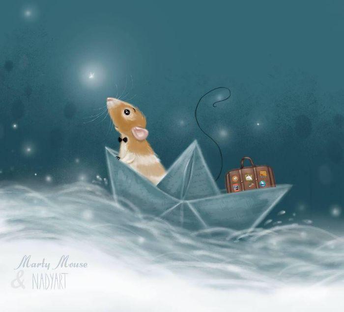 Голландская художница рисует очаровательные иллюстрации животных