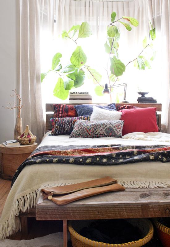 Стиль бохо в спальне