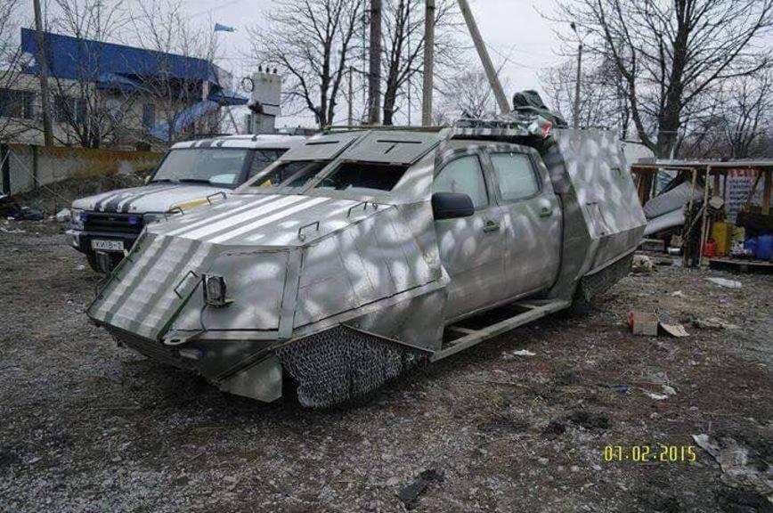 Самодельные бронеавтомобили добровольческих батальонов на Донбассе