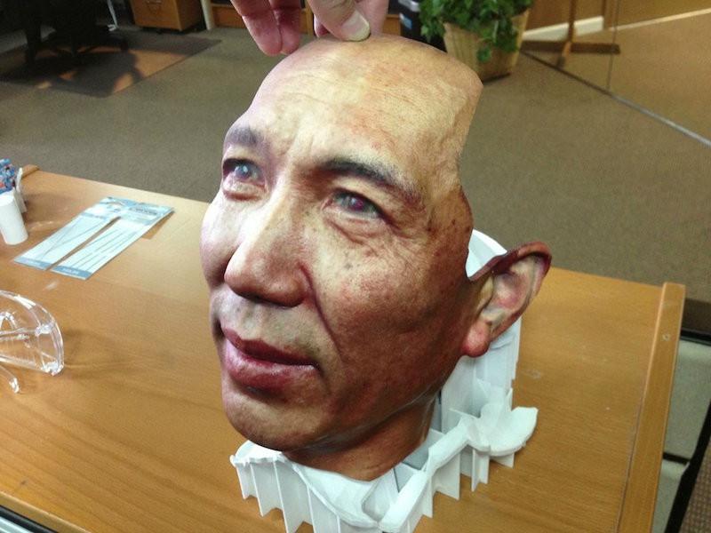 2. Лицо напечатанное на 3D-принтере. планета земля, удивительные фотографии, человек