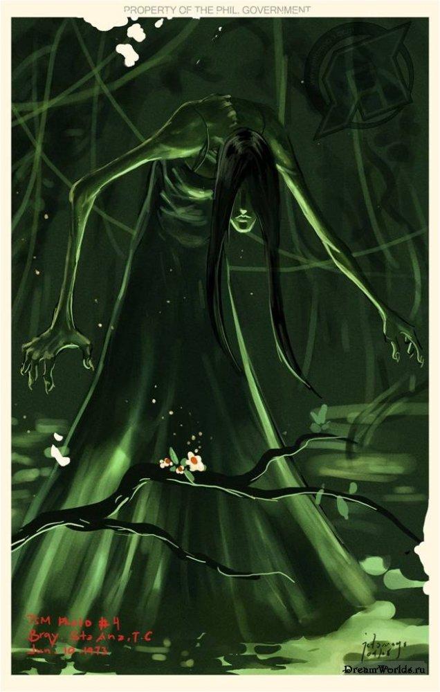 Что за существо называют болотной кикиморой