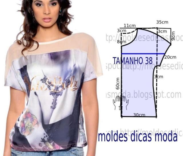 Простые выкройки летних блузок №3