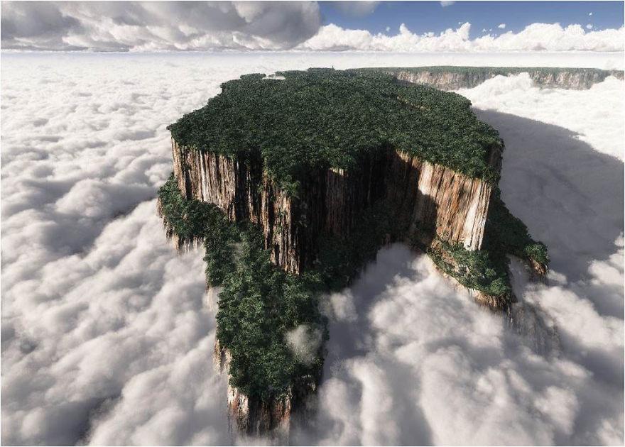1. Гора Рорайма, Венесуэла земля, красота, планета, природа