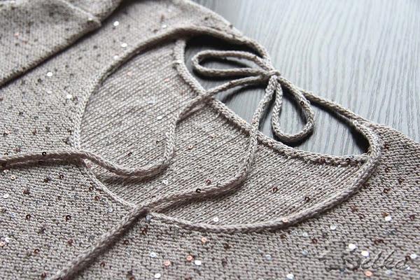 Соединение полотен и обвязка края методом  i-cord. МК