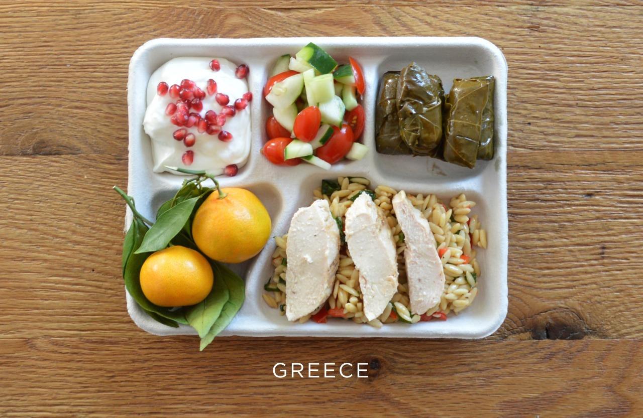 Греция ланч, обед, рацион, школа, школьный обед