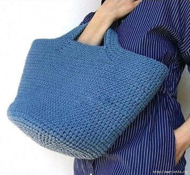 Нравится мне эта сумка... надо связать сделай сам