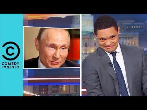 Путина загоняют в угол, а он только смеётся  (Comedy Central, США)