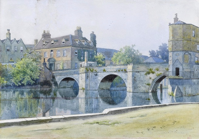 Мост в Сент-Айвс, Хантингдоншир (The bridge at St. Ives, Huntingdonshire). 1890 (656x460, 332Kb)