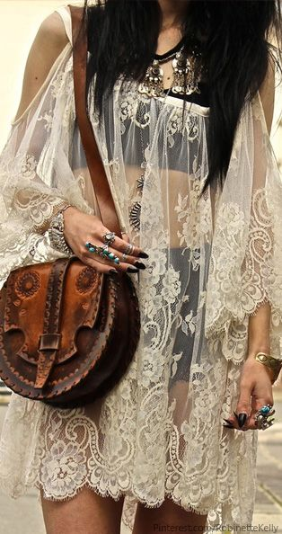 Bohemian Style #vintage I found had a purse like this in a thrift store in high school and bought it! Actually,they had several. I would love to find some nowadays!: