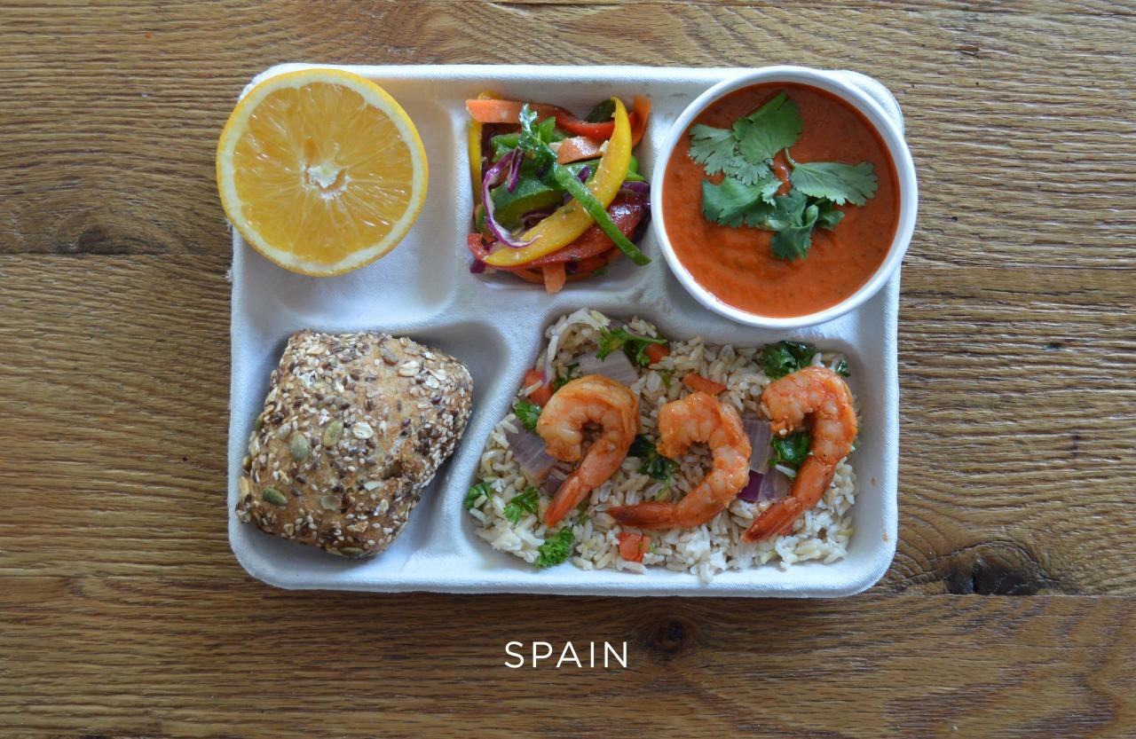 Испания ланч, обед, рацион, школа, школьный обед