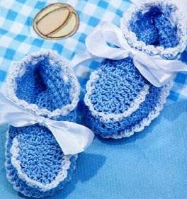 Пинетки (вязание крючком для детей)