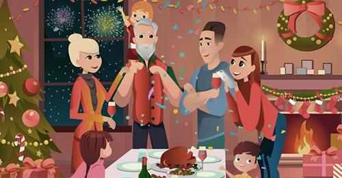 Дома, трезвые и в свитерах с оленями Новый год,общество,россияне