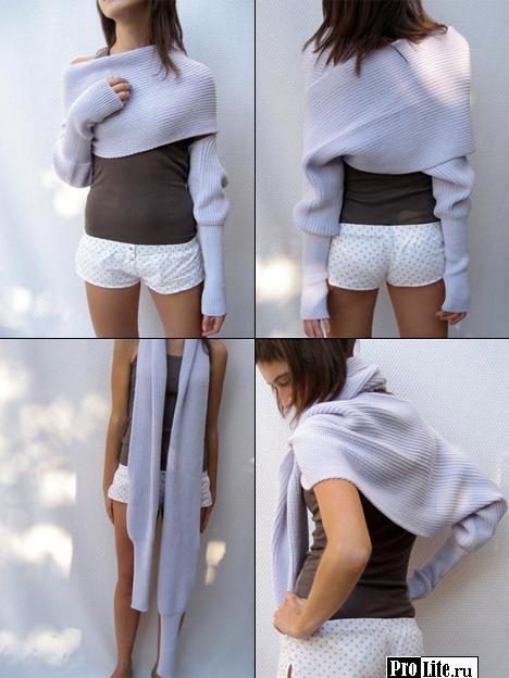 Вяжем свитер-шарф