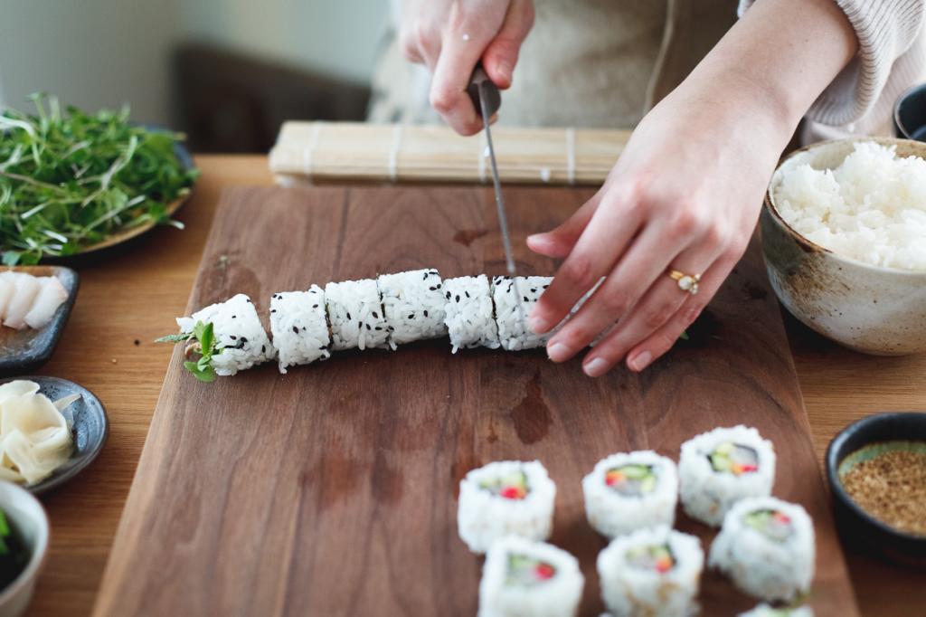 Для фанатов японской кухни! Роллы с кальмаром