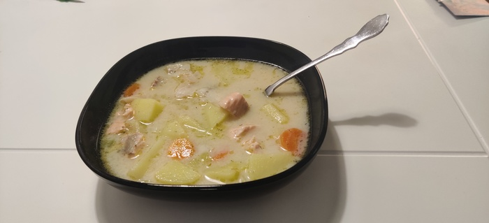 Лохикейтто Рыба, Рыбный суп, Национальная кухня, Рецепт, Длиннопост, Еда, Кулинария, Овощи