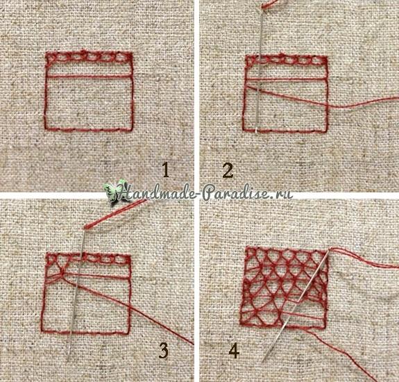 Объемная вышивка «Зонтик» (8)