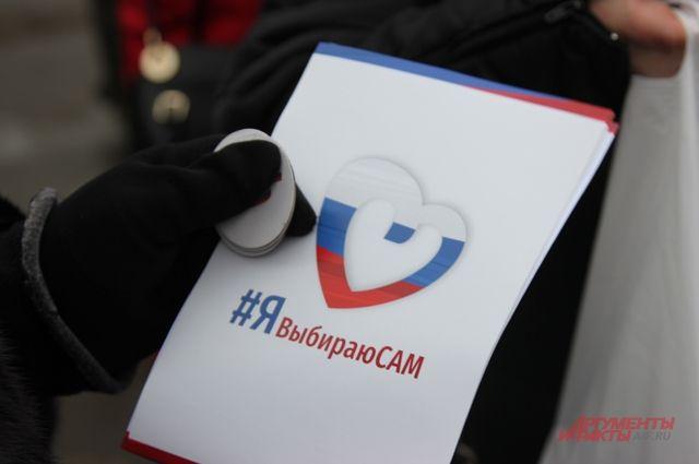 Представители НКО провели в Москве акции в поддержку выборов президента