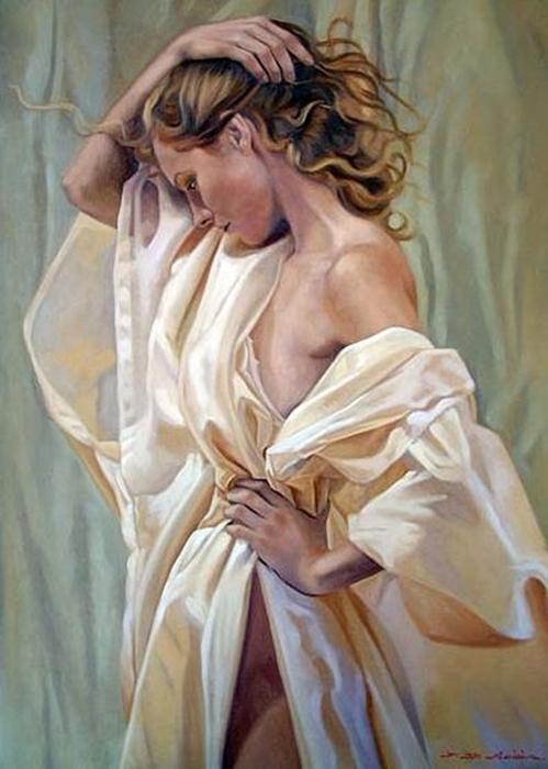 Женский образ, художник Fulvio de Marinis