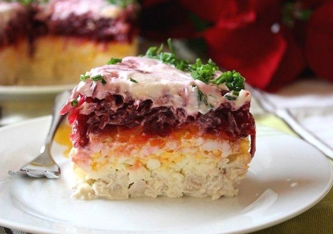 Слоеный салат «Мой генерал»