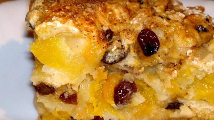 тыквенный пирог из замороженной тыквы