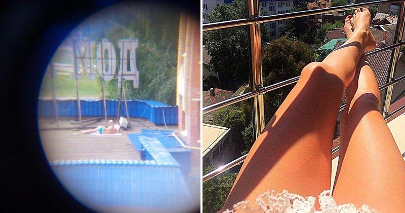 загар по русски на балконе фото