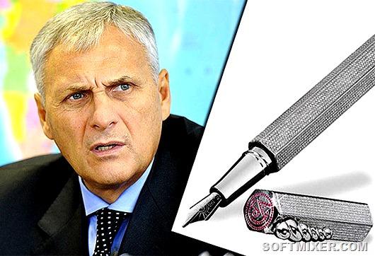 Пишущие ручки по цене особняка