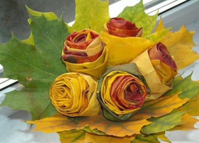 Розы из кленовых листьев сво…