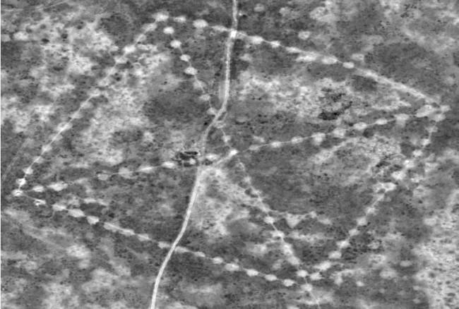 Гигантские геометрические фигуры были сняты в Казахстане из космоса