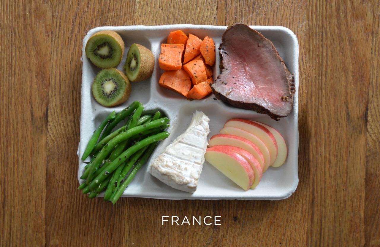 Франция ланч, обед, рацион, школа, школьный обед