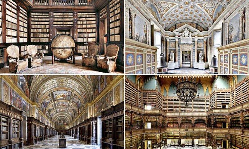 Самые красивые библиотеки мира (42 фото)
