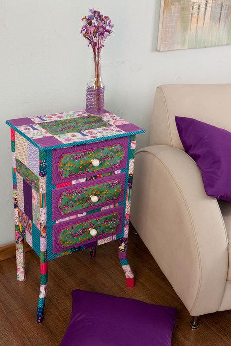 Патч-декор. Идеи декорирования мебели тканью