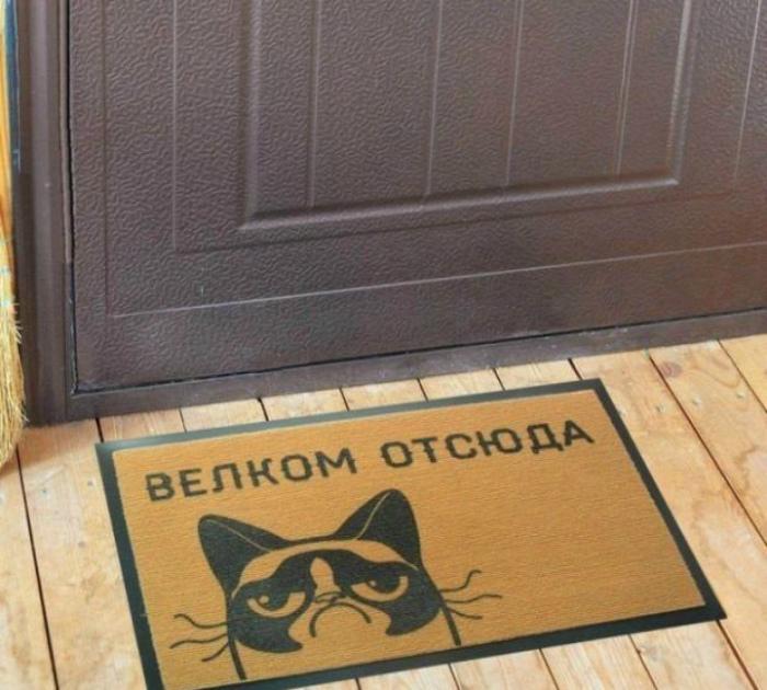 Красноречивый дизайн коврика. | Фото: Поросёнка.нет.