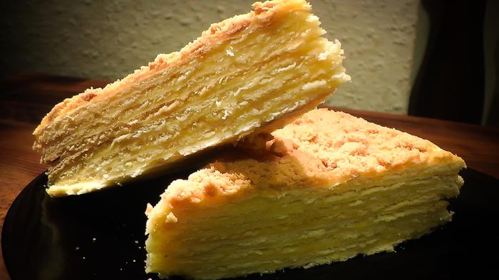 Торт Наполеон - Классический Рецепт Наполеон, Еда, Рецепт, Торт, Кулинария, Новый Год, Вкусно, Кухня, Длиннопост