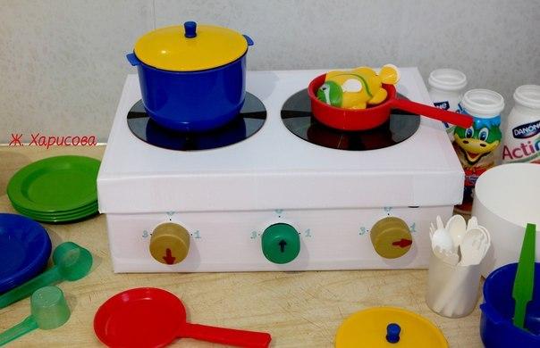 Игрушки из картона. Детская плита