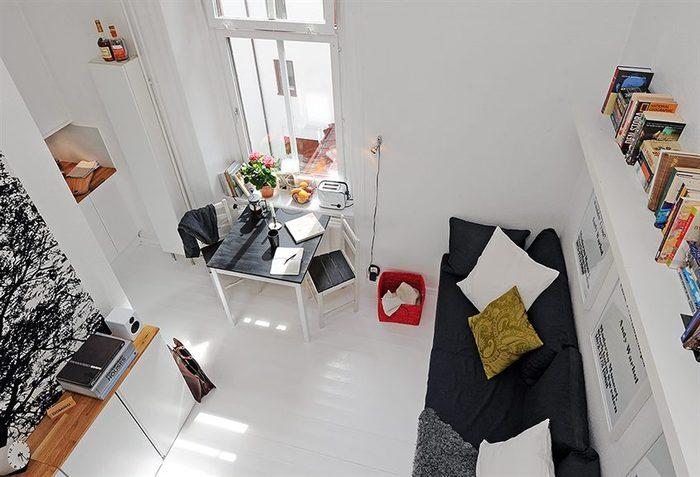 Как оформить холостяцкую квартиру, если её площадь равна всего 17 квадратным метрам?