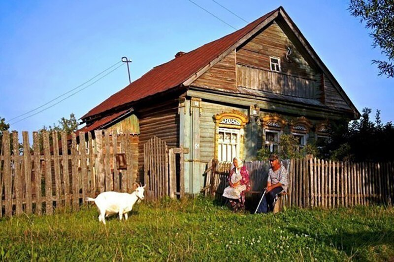 Родителям, картинки в деревне у бабушки