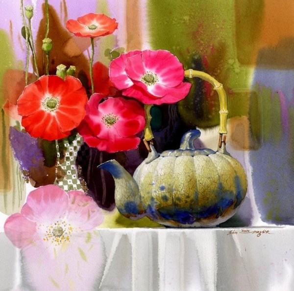 Солнечные акварели корейского художника Shin Jong Sik