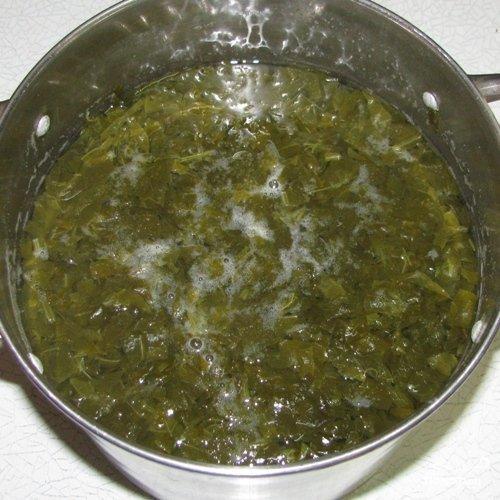 Щавелевый отвар для холодного супа