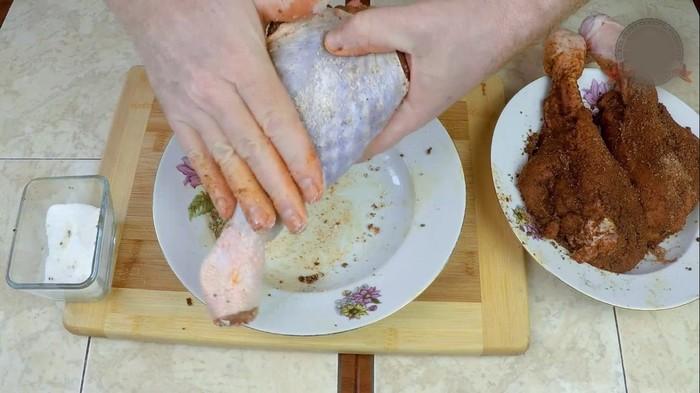 Сыро-вяленое мясо индейки.  Голень под Хамон Сыро-Вяленое мясо, С дедом за обедом, Кулинария, Еда, Вкусно, Индейка, Видео, Длиннопост