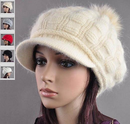 новые женские меха кролика вязать крючком шапочку мешковатые шапка мягкая лыжный крышка берета один размер 60% мех 39,5% нейлон 0,5% спандекс