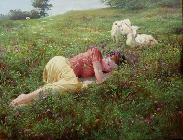 Сон на лугу. Автор: Клапоух Ю.А.