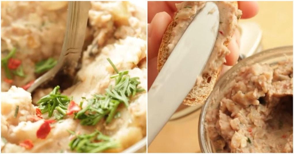 Очень вкусный паштет из необычных ингредиентов: просто и очень аппетитно