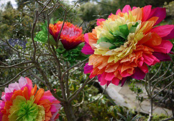 Гофрированные цветы