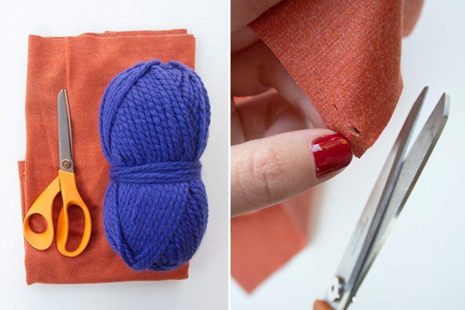 Эффектный шарф без шитья и вязания: стильная обновка за 15 минут одежда,рукоделие,своими руками,сделай сам