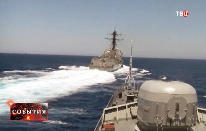 Минобороны обвинило эсминец США в нарушении международных правил
